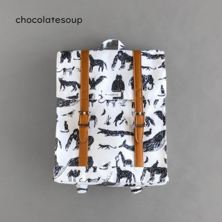 <img class='new_mark_img1' src='https://img.shop-pro.jp/img/new/icons8.gif' style='border:none;display:inline;margin:0px;padding:0px;width:auto;' />chocolatesoup | BIG SQUARE LESSON BAG ANIMAL