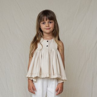 HOUSE OF PALOMA | Bijou Top ( Naturel Ecru ) | 2y-7y