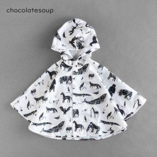 chocolatesoup | GEOMETRY RAIN PONCHO | ANIMAL | 90-100cm