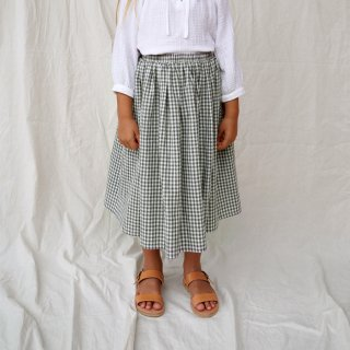 <img class='new_mark_img1' src='https://img.shop-pro.jp/img/new/icons8.gif' style='border:none;display:inline;margin:0px;padding:0px;width:auto;' />HOUSE OF PALOMA   Magnolia Skirt / Olive Gingham   3y-7y