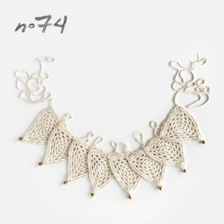 Numero74 | Bunting Garland Crochet(かぎ針編み) | Natural