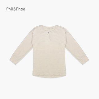 <img class='new_mark_img1' src='https://img.shop-pro.jp/img/new/icons8.gif' style='border:none;display:inline;margin:0px;padding:0px;width:auto;' />Phil&Phae   henley top l/s   hot milk   6/12m-7/8y