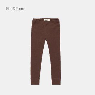 Phil&Phae   Rib leggings   coffee bean   6/12m-3y