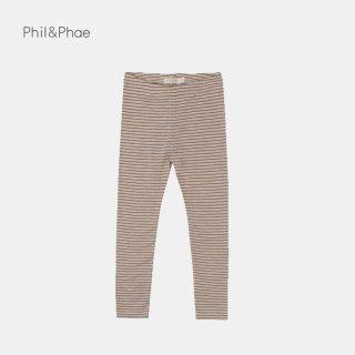 Phil&Phae   Leggings stripes   chestnut   6/12m-3y