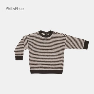 <img class='new_mark_img1' src='https://img.shop-pro.jp/img/new/icons8.gif' style='border:none;display:inline;margin:0px;padding:0px;width:auto;' />Phil&Phae   Baby sweater loopy stripe   graphite   6/12m-18m