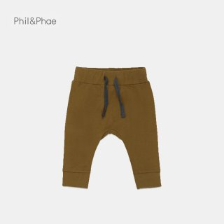 <img class='new_mark_img1' src='https://img.shop-pro.jp/img/new/icons8.gif' style='border:none;display:inline;margin:0px;padding:0px;width:auto;' />Phil&Phae   Drop-crotch baby pants   bronze olive   6/12m-18m