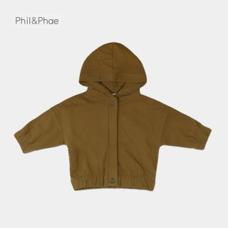<img class='new_mark_img1' src='https://img.shop-pro.jp/img/new/icons8.gif' style='border:none;display:inline;margin:0px;padding:0px;width:auto;' />Phil&Phae   Baby jacket with hood   bronze olive   6/12m-18m