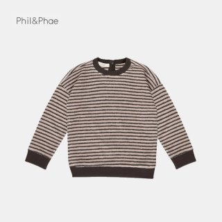 <img class='new_mark_img1' src='https://img.shop-pro.jp/img/new/icons8.gif' style='border:none;display:inline;margin:0px;padding:0px;width:auto;' />Phil&Phae   Sweater loopy stripes   Graphite   2y-7/8y