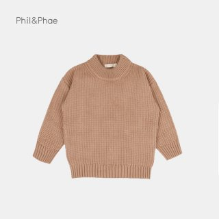 <img class='new_mark_img1' src='https://img.shop-pro.jp/img/new/icons8.gif' style='border:none;display:inline;margin:0px;padding:0px;width:auto;' />Phil&Phae   Chunky knit sweater   Dusty nude   1/2y-7/8y