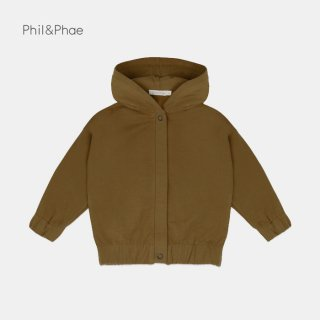 <img class='new_mark_img1' src='https://img.shop-pro.jp/img/new/icons8.gif' style='border:none;display:inline;margin:0px;padding:0px;width:auto;' />Phil&Phae   Sweat jacket with hood   bronze olive   2y-7/8y