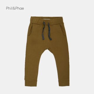 <img class='new_mark_img1' src='https://img.shop-pro.jp/img/new/icons8.gif' style='border:none;display:inline;margin:0px;padding:0px;width:auto;' />Phil&Phae   Drop-crotch sweat pants   bronze olive   2y-7/8m
