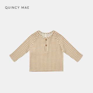 <img class='new_mark_img1' src='https://img.shop-pro.jp/img/new/icons7.gif' style='border:none;display:inline;margin:0px;padding:0px;width:auto;' />QUINCY MAE   ZION SHIRT   HONEY GINGHAM   6-12m〜2-3y
