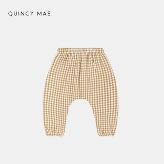 <img class='new_mark_img1' src='https://img.shop-pro.jp/img/new/icons7.gif' style='border:none;display:inline;margin:0px;padding:0px;width:auto;' />QUINCY MAE   WOVEN PANT   HONEY GINGHAM   18-24m〜18-24m