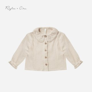 <img class='new_mark_img1' src='https://img.shop-pro.jp/img/new/icons7.gif' style='border:none;display:inline;margin:0px;padding:0px;width:auto;' />Rylee&cru   OVERSIZED COLLAR BLOUSE   STONE   6-12m〜6-7y