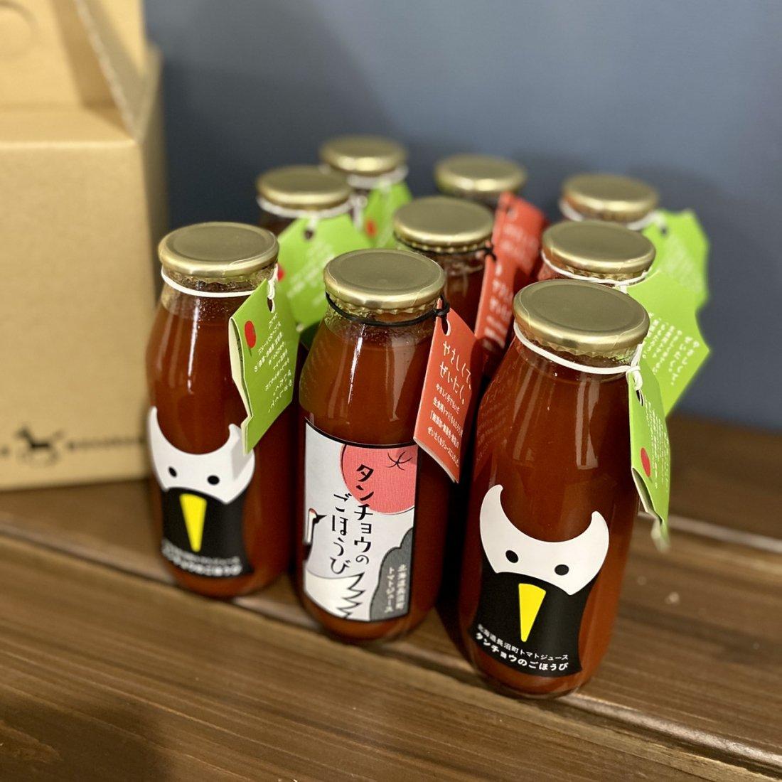 【トマトジュース】タンチョウのごほうび 9本セット 【専用箱入り】