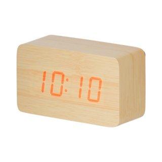 ウッド調LEDクロック<br>表示価格は参考上代です。卸価格はお問い合わせください。