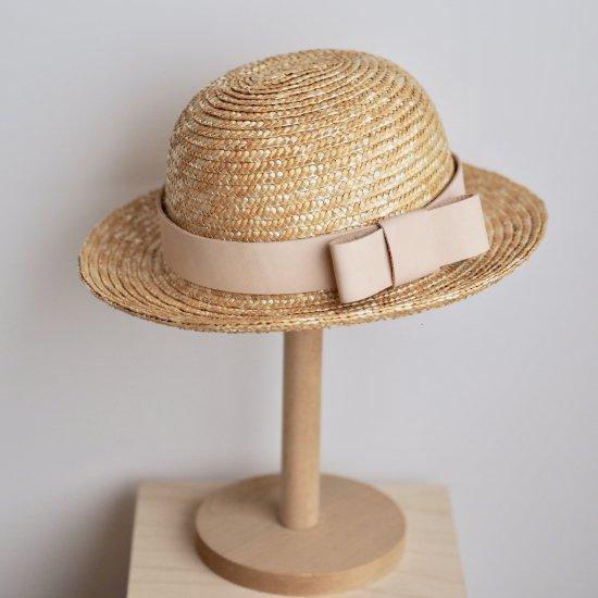 レザーリボンの麦わら帽子 【 まる 】