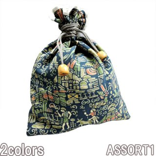 STUDIO DARTISAN 7490 KIMONO-SHOUKEN巾着 ダルチザン アンティーク 着物 巾着 インディゴ 雑貨 アクセサリー