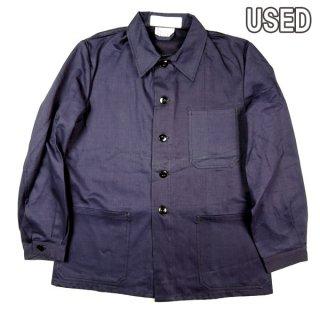 ドイツ軍 USED ヘリンボーン ワークジャケット 実物 ミリタリー カバーオール