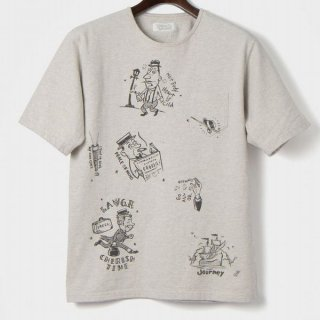 ORGUEIL OR-9052C オルゲイユ プリント Tシャツ クラシック ミリタリー 落書き風 ヴィンテージ 半袖