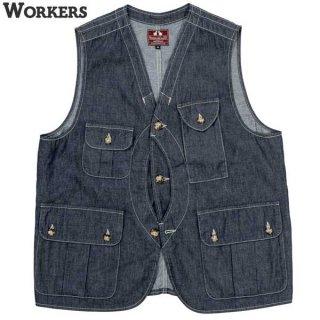 ワーカーズ WORKERS W&G Vest デニム ベスト クルーザー ハンティング アウトドア