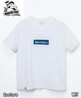 桃太郎ジーンズ MOMOTARO JEANS 07-102 GTBデニムロゴTシャツ ジンバブエコットン半袖Tシャツ Tシャツ 半袖 カットソー