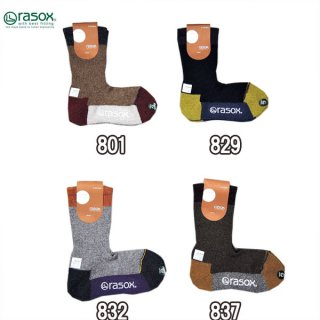 ラソックス rasox SP140CR01 スポーツ・クルー ソックス 靴下 メンズ レディース