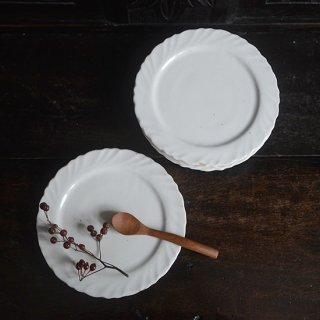 及川静香 白磁ケーキ皿