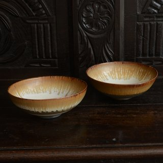 金澤尚宜 三彩6寸鉢(赤茶)
