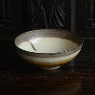 金澤尚宜 三彩6寸鉢(茶)