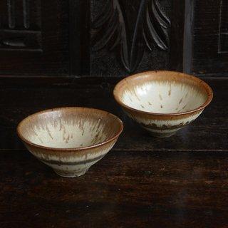 金澤尚宜 三彩小鉢(赤茶)