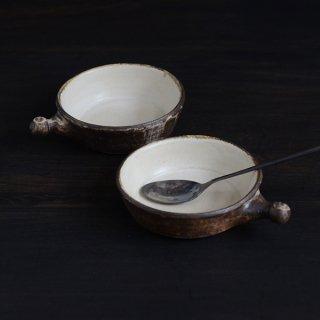 内田可織 耐熱グラタン皿 茶