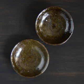 村木雄児 黒釉4寸小皿 12.5cm