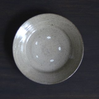 村木雄児 唐津6寸リム皿 18cm