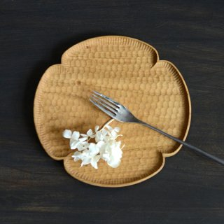 高塚和則 花形パン皿 サクラ 中 径20cm