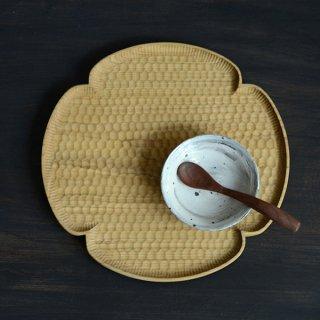 高塚和則 花形パン皿 サクラ 大 径24cm