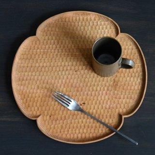 高塚和則 花形パン皿 サクラ 特大 径28cm