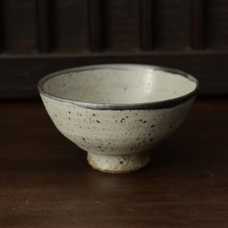 石田辰郎 グレー飯碗 12.5cm