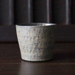 井内素 ミニカップ 白×黒 径8.5cm 高さ6.5cm