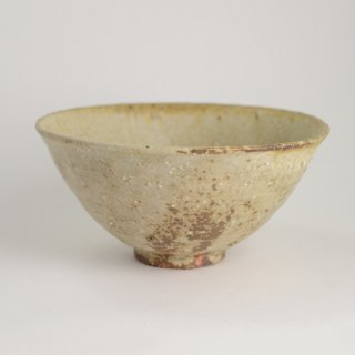 山田隆太郎 白泥 麺鉢 径19cm 高さ9cm