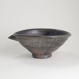 山田隆太郎 片口鉢 黒 径19.5cm×23cm 高さ9cm
