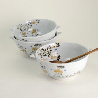 清水なお子 色絵鉄枇杷唐草スープカップ 径13cm  高さ6cm