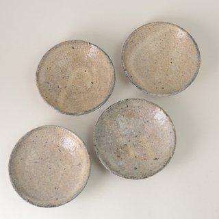 八田亨 白掛4寸皿 φ12.5cm h3.5cm