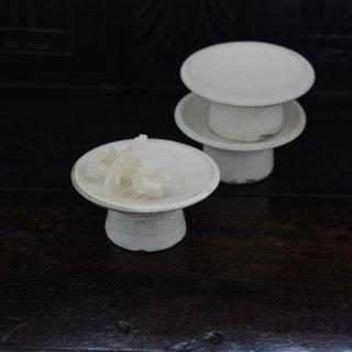 高木剛 粉引3.5寸高台皿 φ11.5cm 高さ5.5cm