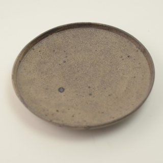 関口憲孝 茶7寸切立皿 φ21.5cm h3.5cm