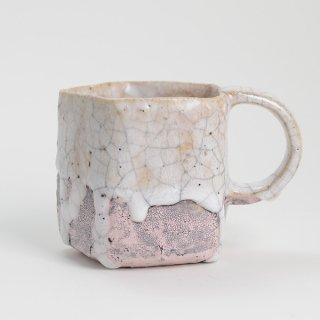 片瀬和宏 マグカップ A ピンク φ9cm H8.5cm 200ml