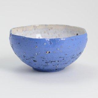片瀬和宏 輪花小鉢 C ブルー×白 φ12cm H6cm
