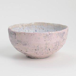 片瀬和宏 輪花小鉢 A ピンク×白 φ12cm H6cm