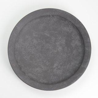 岡崎慧佑 8寸リム皿 黒 径24cm 高さ4cm