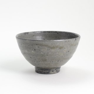 増田勉 灰釉象嵌粉米飯碗  径12cm 高さ7cm